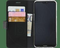 Azuri Coque à rabat Portefeuille magnétique pour Huawei P20 Lite Noir