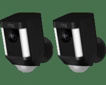 Ring Spotlight Cam Battery Zwart Duo Pack