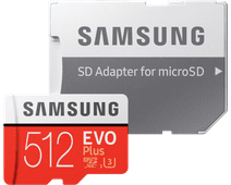 Samsung microSDXC EVO+ 512 Go 100MB/s CL 10 + Adaptateur SD