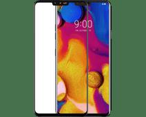 Azuri Gehard Glas LG V40 Screenprotector Glas Zwart