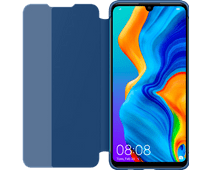 Huawei P30 Lite View Flip Cover Book Case Blauw