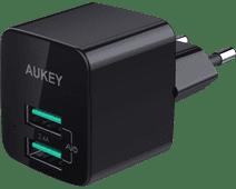 Aukey Chargeur secteur USB-A avec 2 Ports 4,8 A Noir