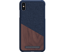 Nordic Elements Frejr Apple iPhone Xs Max Back Cover Blue / Wood