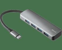 Trust Halyx Aluminum USB-C to 4 Port USB-A 3.2 Hub