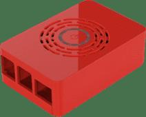 Multicomp Pro Raspberry Pi 4 behuizing - Power knop - Rood