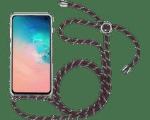 StilGut Samsung Galaxy S10 Back Cover met Koord Transparant