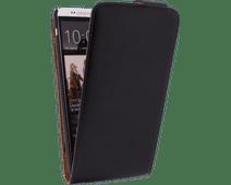 Xccess Leather Flip Case HTC One Max Zwart