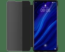 Huawei P30 View Flip Cover Book Case Zwart