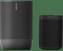 Sonos Move Zwart + Sonos One Zwart