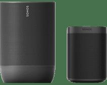 Sonos Move Zwart + Sonos One SL Zwart