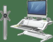 Fellowes Lotus DX Wit + monitorarm enkel