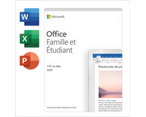 Microsoft Office 2019 FR Famille et Étudiant