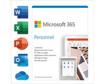 Microsoft 365 Personnel FR Abonnement de 1 an