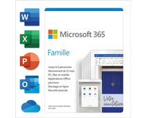 Microsoft 365 Famille FR Abonnement de 1 an