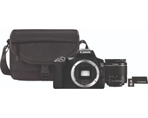 Canon EOS 250D Black + 18-55mm f / 3.5-5.6 DC III + Case + 16GB memory card + cloth