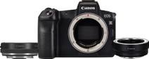 Canon EOS R + Adaptateur + Adaptateur avec Bague de réglage