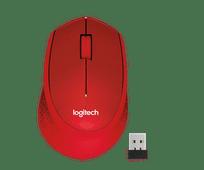 Logitech M330 Silent Draadloze Muis Rood