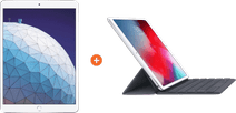 "Apple iPad Air (2019) 10,5"" Zilver 256GB Wifi + Smart Keyboard AZERTY"