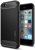 Spigen Rugged Armor pour Apple iPhone 5/5S/5SE Noir