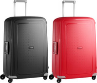 Samsonite S'Cure Valise à 4 roulettes 75 cm Black + 75 cm Crimson red set de valises