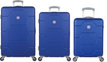 Caretta Set de valises à 4 roulettes 76 cm + 65 cm + 55 cm Dazzling Blue