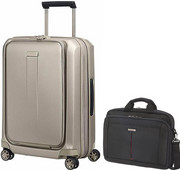 Samsonite Prodigy Valise à 4 roulettes 55 cm Ivory Gold + Samsonite GuardIT