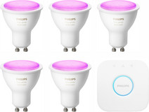 Philips Hue White & Colour GU10 Kit de démarrage - 5 ampoules
