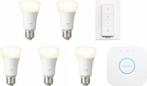 Philips Hue White E27 Kit de démarrage - 5 ampoules