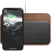 Nomad Base Station 2-in-1 Wireless Charger 10W Wood