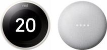 Nest Learning Thermostat V3 Premium White + Google Nest Mini White