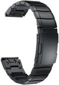 Just in Case Garmin Fenix 6/6 Pro Stainless Steel Strap Black