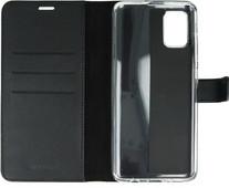 Valenta Samsung Galaxy A71 Book Case Leer Zwart