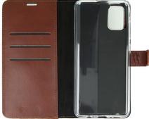 Valenta Samsung Galaxy A71 Book Case Leer Bruin