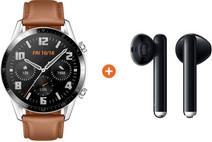Huawei Watch GT 2 Silver/Brown 46mm + Huawei FreeBuds 3 Black
