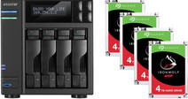 Asustor AS7004T-i3 + Seagate Ironwolf ST4000VN008 4 TB Quad Pack