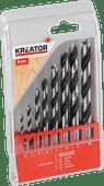 Kreator Set de forets à bois 8 pièces 3-10mm