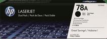 HP 78AD LaserJet Toner Noir Lot de 2 (CE278AD)