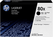 HP 80X Toner Cartridges Black Duo Pack (High Capacity)