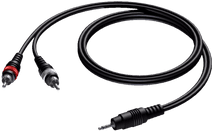 Procab CAB711 2x RCA Male - 3,5 mm Mini Male Jack 3 Meter