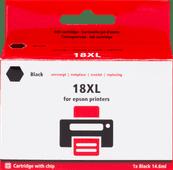 Pixeljet 18 XL Zwart voor Epson printer (C13T18114010)