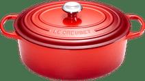 Le Creuset Ovale Stoof-/Braadpan 31 cm Kersenrood