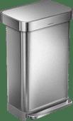 Simplehuman Rectangular Liner Pocket 45 Liter RVS