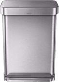 Simplehuman Rectangular Liner Pocket 55 Liter RVS