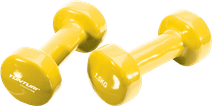 Tunturi Vinyl Dumbbells 2x 1.5 kg Yellow
