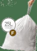 Simplehuman Sacs poubelle Code F - 25 litres (60 pièces)