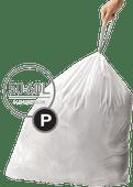 Simplehuman Sacs poubelle Code P - 50-60 Litres (60 pièces)