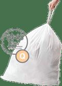 Simplehuman Vuilniszakken Code Q - 50-65 Liter (60 stuks)
