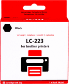 Pixeljet LC-223BK Cartridge Black for Brother printers