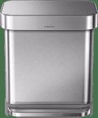 Simplehuman Liner Pocket poubelle à pédale rectangulaire 30 Litres Acier Inoxydable