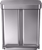 Simplehuman Rectangular Liner Pocket GFT 24+34 Litres RVS